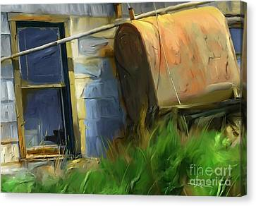 old oil tank P.E.I. Canvas Print by Bob Salo