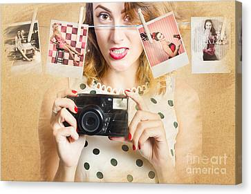 Old Photo Collection Pin-up Canvas Print by Jorgo Photography - Wall Art Gallery
