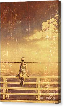 Old Pinup Girl Photo Canvas Print by Jorgo Photography - Wall Art Gallery