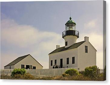 Old Point Loma Lighthouse - Cabrillo National Monument San Diego Ca Canvas Print by Christine Till