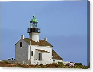 Old Point Loma Lighthouse San Diego California Canvas Print by Christine Till