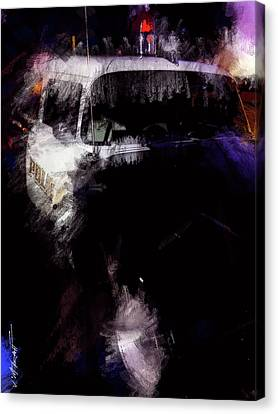 Old Police Cruiser Canvas Print by James Metcalf
