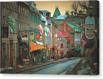 Old Quebec City Canvas Print by Anthony Caruso