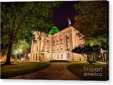 Old Raleigh Capital At Night II Canvas Print by Dan Carmichael