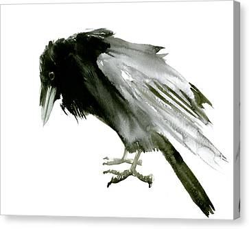Old Raven Canvas Print by Suren Nersisyan