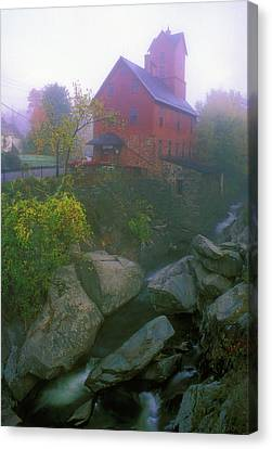 Old Red Mill Jericho Vermont Canvas Print by John Burk