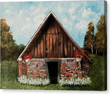 Old Root House Canvas Print by Anastasiya Malakhova
