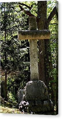 Old Rugged Cross Canvas Print by Richard Jenkins