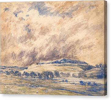Old Sarum In A Storm Canvas Print by Mountain Dreams
