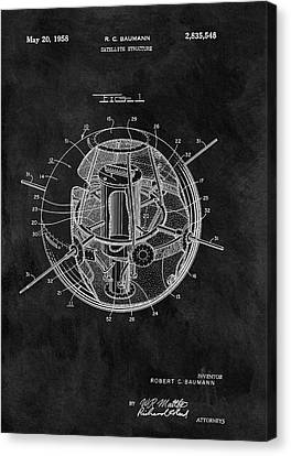 Old Satellite Patent Canvas Print by Dan Sproul