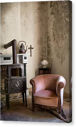 Old Sofa Waiting - Abandoned House Canvas Print by Dirk Ercken