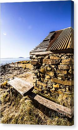 Old Stone Coastal Boat House Canvas Print by Jorgo Photography - Wall Art Gallery