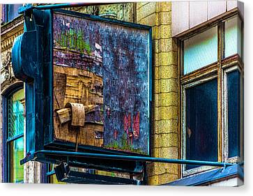 Old Store Sign Pittsburgh Pennsylvania V4 Dsc0917 Canvas Print by Raymond Kunst
