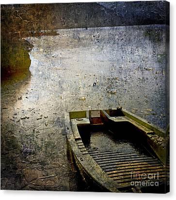 Old Sunken Boat. Canvas Print by Bernard Jaubert