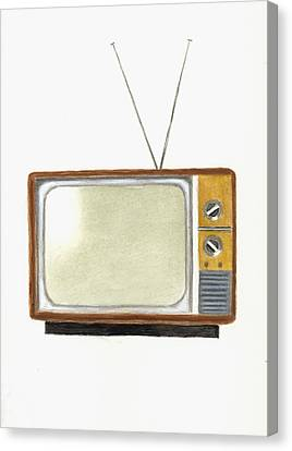 Old Television Set Canvas Print by Michael Vigliotti