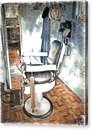 Old Time Barber Shop Sketch 2 Canvas Print by Marty Koch