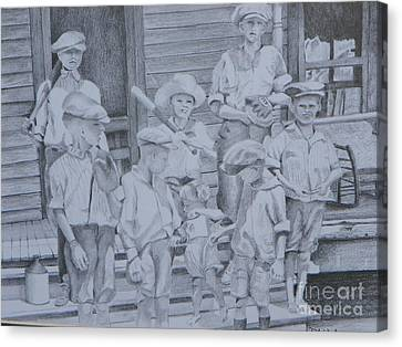 Old Time Baseball Canvas Print by David Ackerson