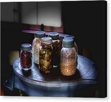 Old-time Canned Goods Canvas Print by Tom Mc Nemar