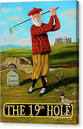 Old Tom Morris Canvas Print by Brian Hustead