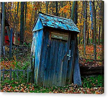 Old Tool Shed Canvas Print by Julie Dant