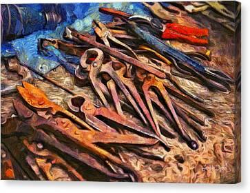 Old Tools - Da Canvas Print by Leonardo Digenio