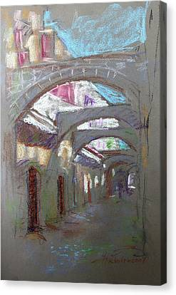 Old Town In Rhodes  Greece Canvas Print by Ylli Haruni
