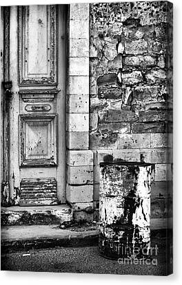 Old Town Limassol Black And White Canvas Print by John Rizzuto