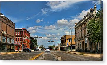 Old Town Taylor Intersection Canvas Print by Linda Phelps