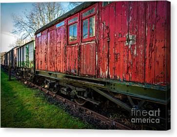 Old Train Wagon Canvas Print by Adrian Evans