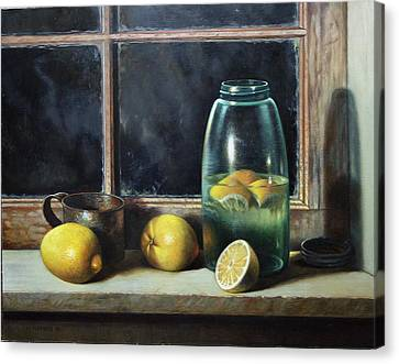 Old Tyme Lemonade Canvas Print by William Albanese Sr