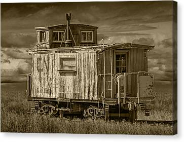 Old Vintage Train Caboose Canvas Print by Randall Nyhof