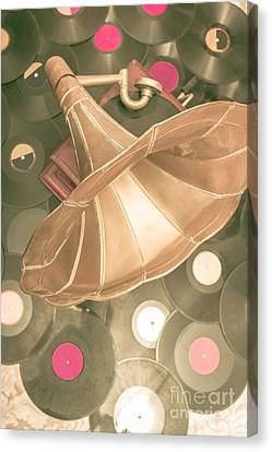 Old Vinyl Record Gramophone Canvas Print by Jorgo Photography - Wall Art Gallery