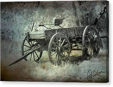 Old Wagon Canvas Print by Christine Hauber