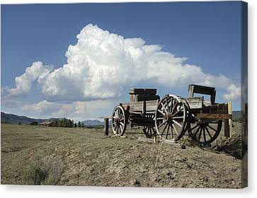 Old Wagon Out West Canvas Print by Jerry McElroy