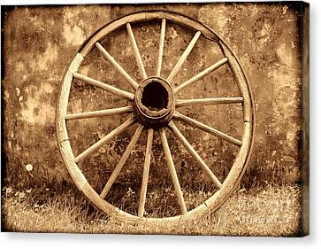 Old Wagon Wheel Canvas Print by American West Legend By Olivier Le Queinec