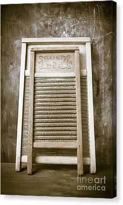 Old Washboards Canvas Print by Edward Fielding