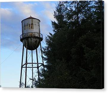 Old Water Tower Canvas Print by Laurie Kidd