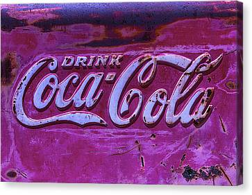 Old Weathered Coke Sign Canvas Print by Garry Gay