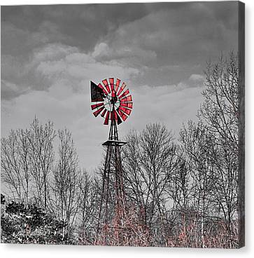 Old Wind Mill Canvas Print by Robert Pearson