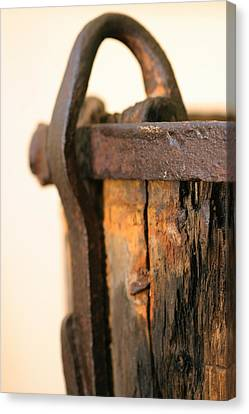 Old Wooden Barrel At The Ore Mine Sweden Canvas Print by Dagmar Ceki