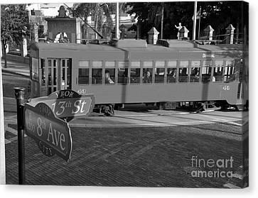 Old Ybor City Trolley Canvas Print by David Lee Thompson