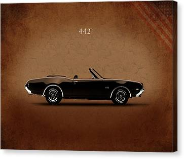 Oldsmobile 442 Canvas Print by Mark Rogan