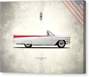 Oldsmobile Dynamic 88 1959 Canvas Print by Mark Rogan