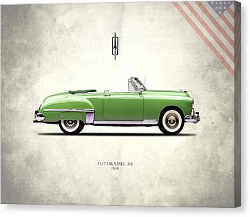Oldsmobile Futuramic 88 1949 Canvas Print by Mark Rogan