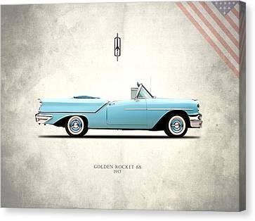 Oldsmobile Golden Rocket 88 1957 Canvas Print by Mark Rogan