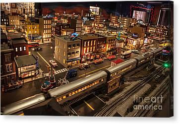 Oldtown Model Railroad Depot Canvas Print by Richard Smukler