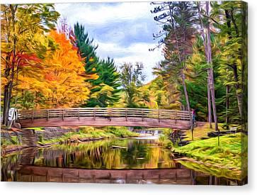 Ole Bull State Park - Pennsylvania - Paint Canvas Print by Steve Harrington