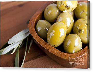 Olive Bowl Canvas Print by Jane Rix