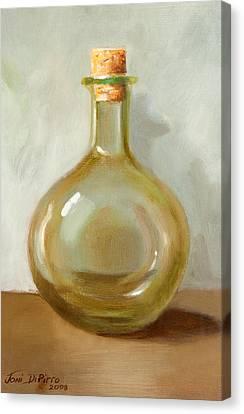 Olive Oil Bottle Still Life  Canvas Print by Joni Dipirro