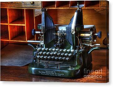 Oliver Typewriter Canvas Print by Bob Christopher